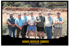 TACSIM Range Officer Course 4 to 5 November 2017